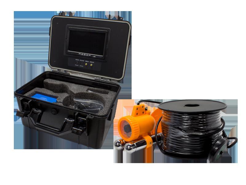 WTW-WA1002-9 水中カメラ アナログ41万画素 ホワイトLED搭載 魚型水中カメラ 録画機能搭載ポータブル7インチモニター内蔵ケースセット レジャーから業務までご利用が可能 水深10m(2気圧)まで対応