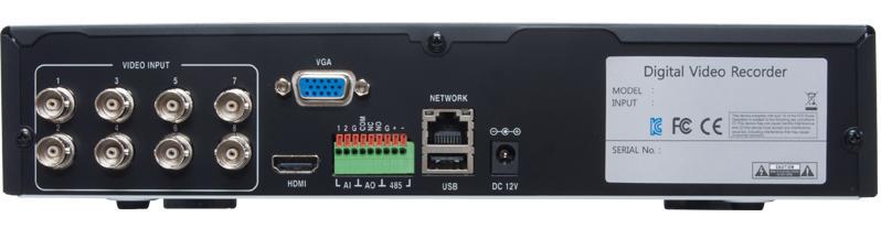 WTW-5H80 220万画素HD-SDIシリーズ 8ch対応 デジタルビデオレコーダー(DVR)