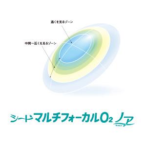 送料無料★ マルチフォーカルO2ノア 1枚入り 遠近両用 ハードレンズ ハード コンタクト シード マルチフォーカル O2 連続装用 seed