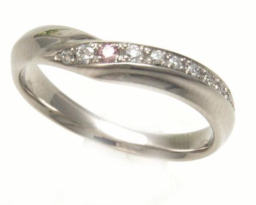 【結婚指輪】【Princess Heart Collection】【ユーロプラチナ】【ピンクダイヤモンド】【Splendo スプレンド】マリッジリング