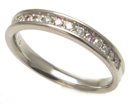 【結婚指輪】【Princess Heart Collection】【ユーロプラチナ】【ピンクダイヤモンド】【Eternita エテルニータ】マリッジリング
