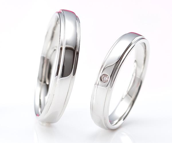 【ペア結婚指輪】【Princess Heart Collection】【ユーロプラチナ】【ピンクダイヤモンド】【Puro ピューロ】マリッジリング ペア
