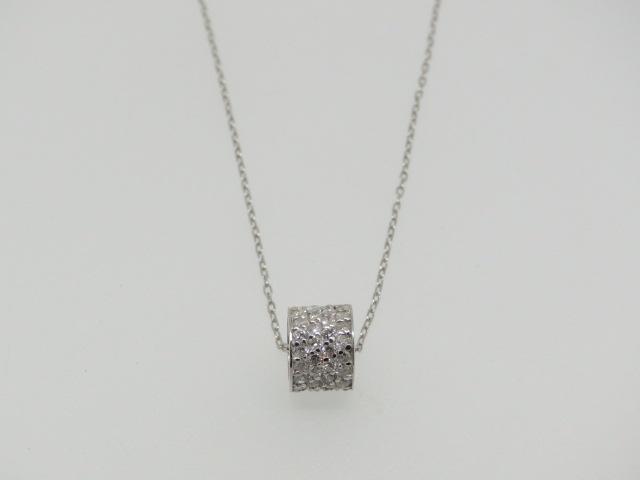【即納】超お買い得品WGダイヤプチネックレス