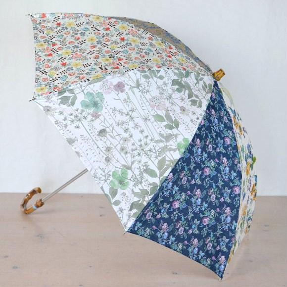 クーポール LIBERTY  リバティ 折りたたみ傘パッチワーク(晴雨兼用)