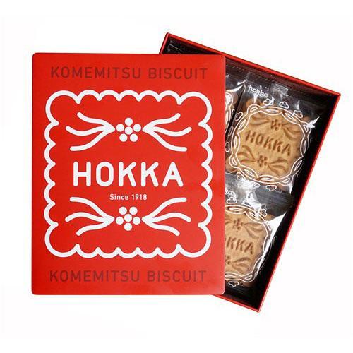 お気に入 セール 赤い缶が可愛い 北陸製菓 金沢お菓子 ホッカ 米蜜ビスケットギフト缶 hokka