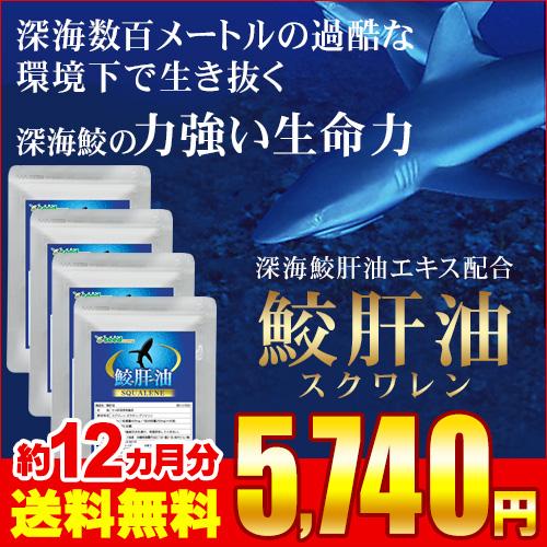 スクワレン 鮫肝油 約12ヵ月分 【seedcoms_D】12D