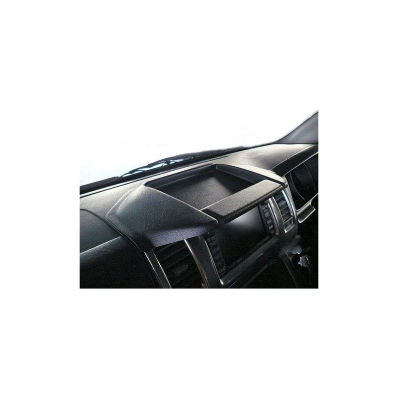 シックスセンス トレイ付きナビバイザー 200系ハイエース 標準 専用  シボブラック