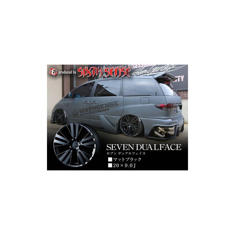 シックスセンス セブンデュアルフェイス 20×9.0j  マットブラック  1本   メーカー直発送のため代引不可  お取り寄せ販売