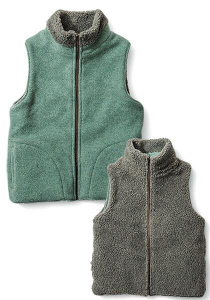 人気ブラドン GREEN CLOTHING(グリーンクロージング) GREEN/ VEST BOA VEST/ リバーシブルベスト [ワカクサ×モカ], 豊明市:fbd5ae85 --- portalitab2.dominiotemporario.com