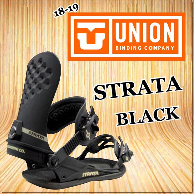 18-19モデル☆ UNION 【ユニオン】ビンディング STRATA 【正規品】カラー: BLACK