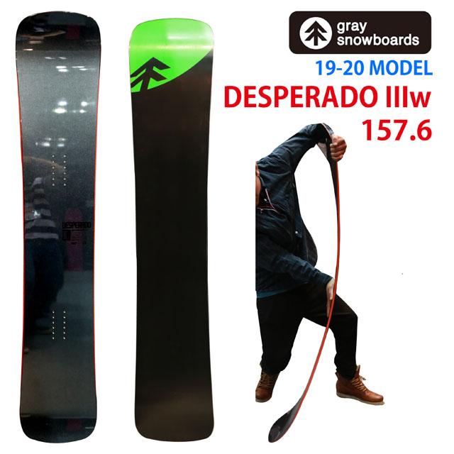 19-20 GRAY DESPERADO 3w グレイ デスペラード157.6ワイド スノーボード 2019-20日本正規品