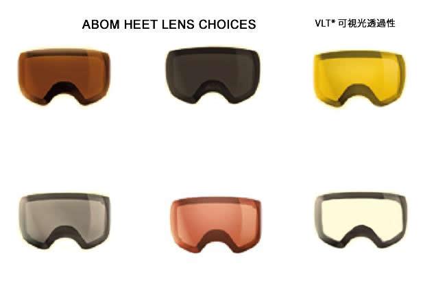 ABOM【エーボム】ゴーグルスペアレンズ HEET【正規品】ノーマルレンズ gogglelens