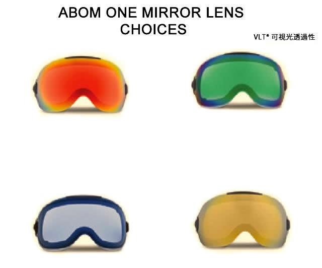 ABOM【エーボム】ゴーグルスペアレンズ ONE【正規品】ミラーレンズタイプgoggle lens