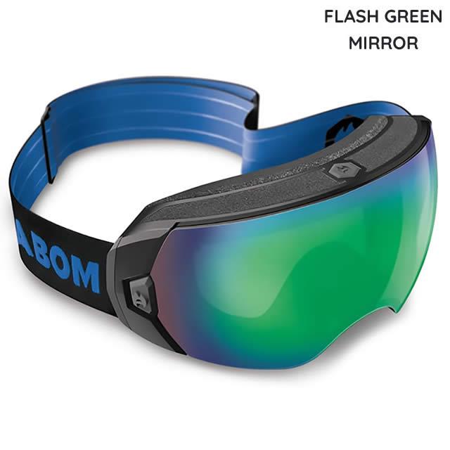 ABOM【エーボム】ゴーグル HEET【正規品】FLASH GREEN MIRROR goggle 2019-20