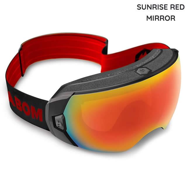 ABOM【エーボム】ゴーグル HEET【正規品】SUNRISE RED MIRROR goggle 2019-20