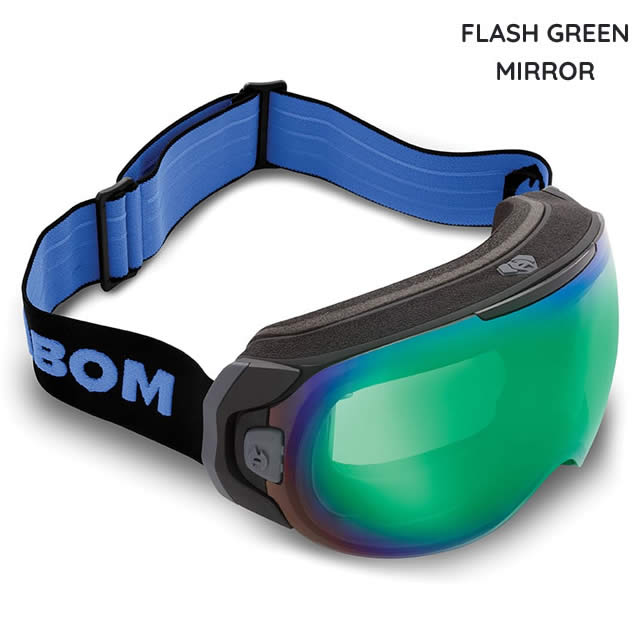 ABOM【エーボム】ゴーグル ONE【正規品】FLASH GREEN MIRROR goggle