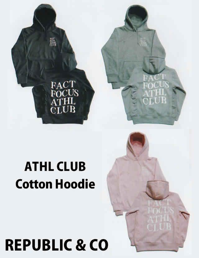REPUBLIC & CO【リパブリック&シーオー】パーカー ATHL CLUB COTTON HOODIE