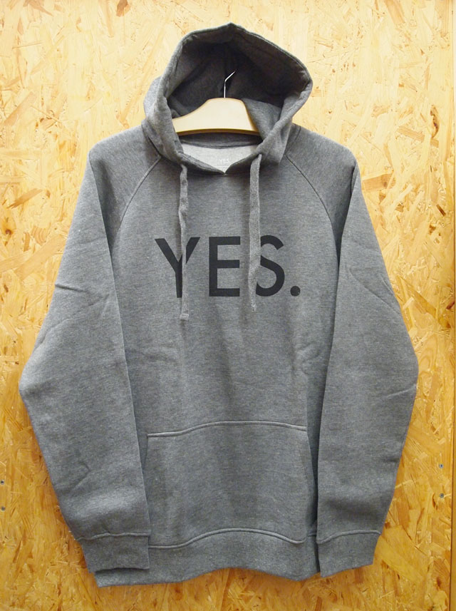YES.【イエス.】YES. HOODIE パーカー カラー:HEATHER/BLACK 【正規品】