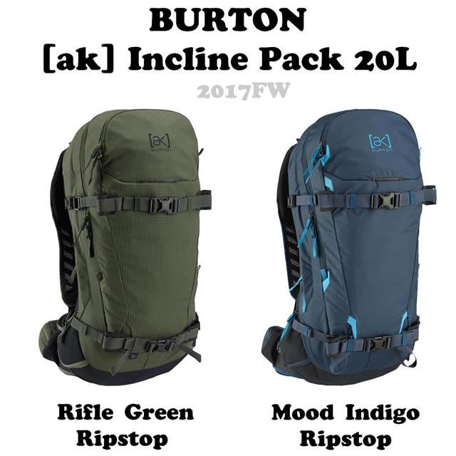 BURTON【バートン】バックパック[ak] Incline Pack 20L【正規品】