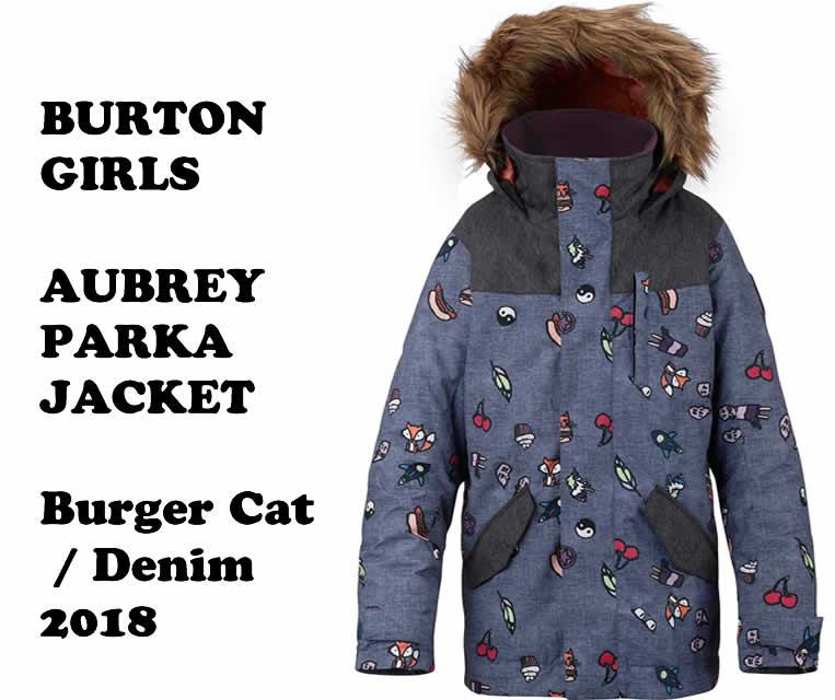 2018 BURTON YOUTH Parka Denim【バートン ユース BURTON】GIRL'S Aubrey Parka JACKET:Burger Cat/ Denim, セタナグン:3a1d094a --- debyn.com