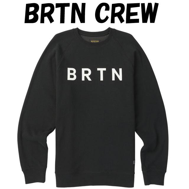 2019モデル☆BURTON【バートン】クルー BRTN CREWカラー:TRUE BLACK【正規品】