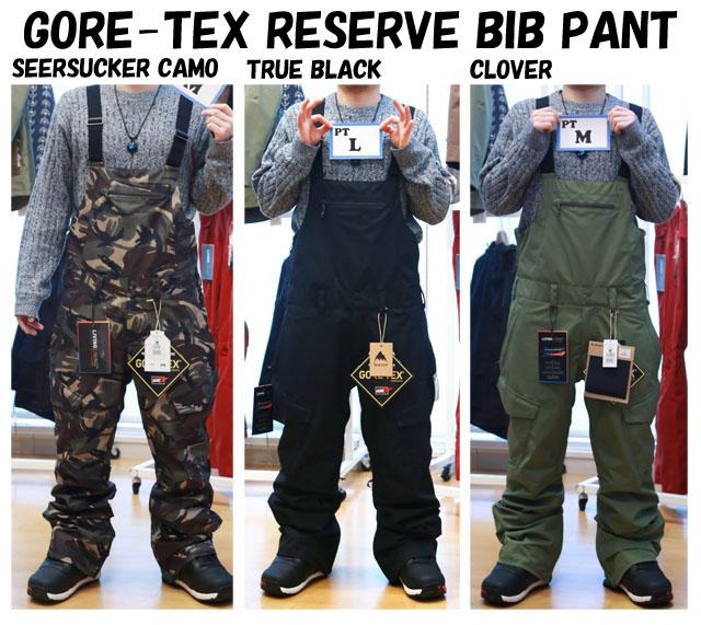 2019モデル☆BURTON【バートン】GORE-TEX RESERVE BIB PANT【正規品】
