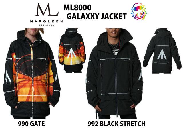 18-19 MARQLEEN【マークリーンウェア】 GALAXXY JACKET ☆ML8000 スノーボード ウェア
