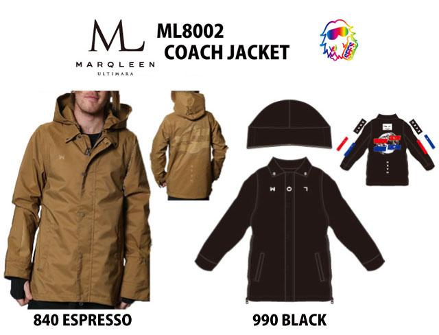 18-19 MARQLEEN【マークリーンウェア】 COACH JACKET ☆ML8002 スノーボード ウェア