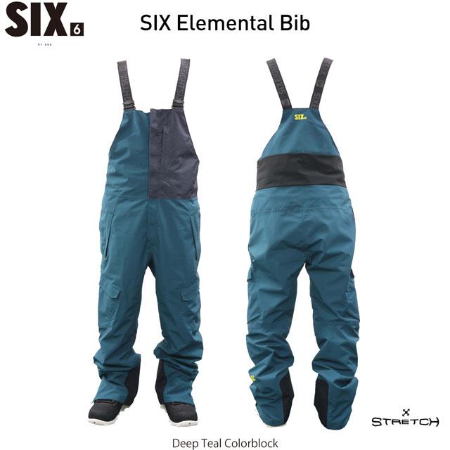 ☆19-20ウェア☆686【シックスエイトシックス】SIX ELEMENTAL BIB L9W902 スノーボード