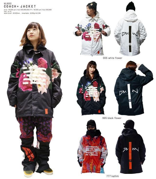 予約商品☆19-20 MARQLEEN【マークリーンウェア】 COACH+ JACKET ☆ML9002 スノーボード ウェア