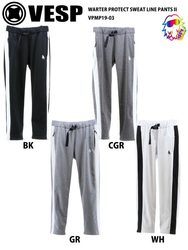 19-20 VESP【ベスプ】WATER PROTECT SWEAT LINE PANTS 2 VPMP19-03 スノーボードウェア