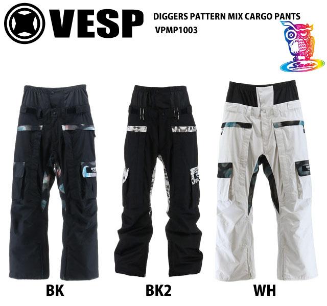 予約商品☆20-21VESP【ベスプ】 DIGGERS PATTERN MIX CARGO PANTS VPMP1003 スノーボードウェア