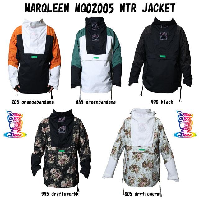予約商品☆21-22 MARQLEEN マークリーンウェア NTR ☆MQ02005 ストア ウェア スノーボード JACKET 日本産