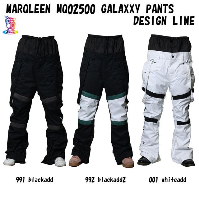 予約商品☆21-22 MARQLEEN マークリーンウェア GALAXXY スノーボード 売り出し ☆MQ02500 本物 ウェア PANTS