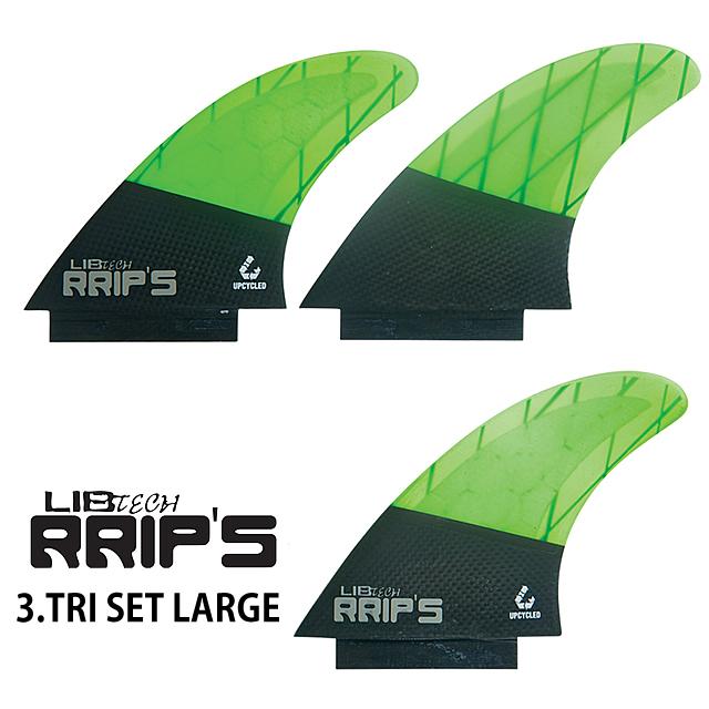 LIBTECH【リブテック】RRIP'S FIN【リップスフィン】TRI SET LARGE【トライセットラージ】GREEN緑