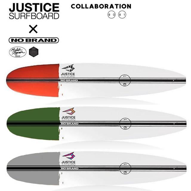 JUSTICEジャスティス×NO BRANDノーブランド LONG surfboardロングサーフボード EPS新素材LCT