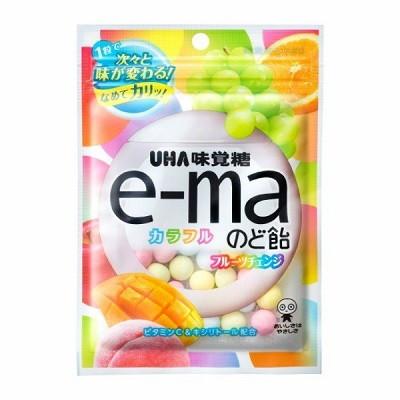 味覚糖 e-maのど飴袋カラフルフルーツチェンジ 50G×72個