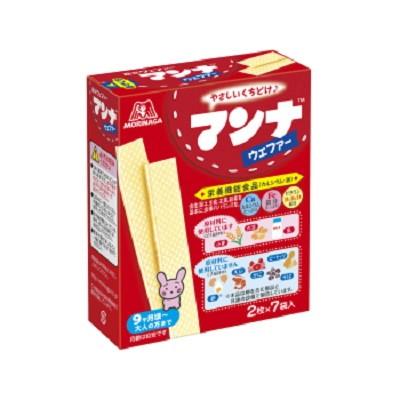 森永製菓 マンナウェファー 14枚(2枚×7袋)×72個