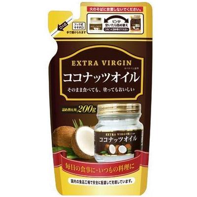 三和通商 ベトナム産ココナッツオイル詰替え 200g×48個  【送料無料】