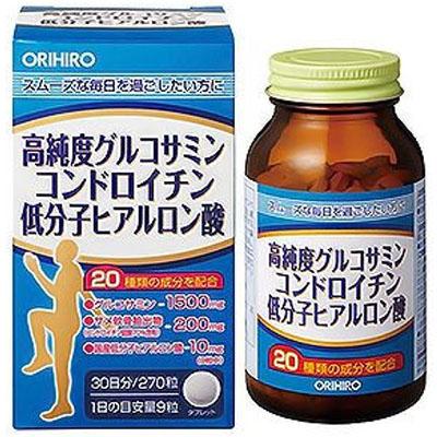 オリヒロ グルコサミン低分子ヒアルロン酸×24個  【送料無料】