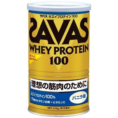 ザバス ホエイプロテイン100 バニラ 18食分×10個  【送料無料】