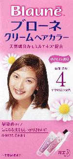 花王 ブローネ クリームヘアカラー 4 1組×24個  【送料無料】