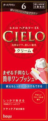 ホーユー シエロ ヘアカラー EX クリーム 6 1組×27個  【送料無料】