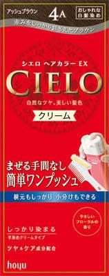 ホーユー シエロ ヘアカラーEX クリーム 4A 1組×27個  【送料無料】