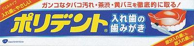 アース製薬 ポリデント 入れ歯の歯みがき 95g×120個【送料無料】【オーラル】【歯磨き】【歯ブラシ】