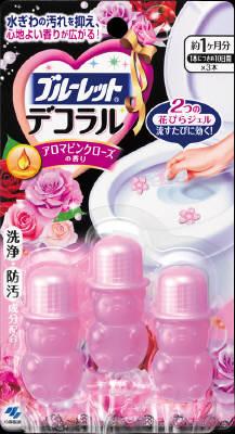 小林製薬 ブルーレットデコラル アロマピンクローズの香り 22.5g×112個【送料無料】【消臭剤】【芳香剤】