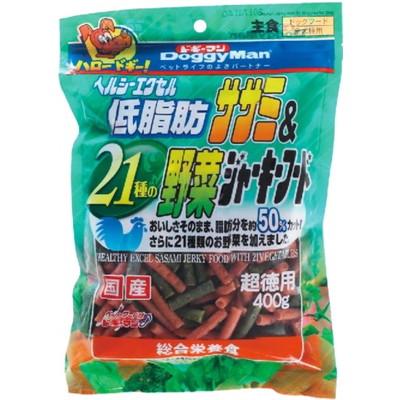 ヘルシーエクセル低脂肪ササミ野菜ジャーキー400g×24個