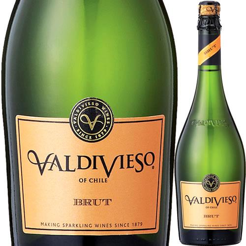 バルディビエソ ブリュット 白 750ml 12本(ケース販売)【送料無料】スパークリングワイン 白 発泡 辛口チリ Valdivieso Brut