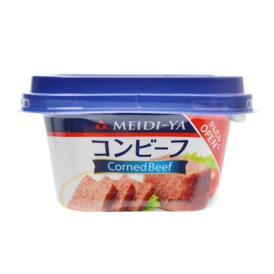 明治屋 コンビーフ 80g×24個 【送料無料】MYコンビーフ スマートカップ 牛肉を100%使用し、肉本来の旨みが味わえます。そのままお召しあがりいただいても、サンドイッチやサラダ、野菜炒めにもおすすめです。