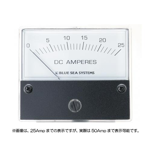 ブルーシー BLUE SEA 直流 アンメーター 8-16V 0~50Amp